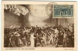 FRANCE N° 444 - SERMENT Du JEU De PAUME < CACHET 20-06-1939 De VERSAILLES - 150e ANNIVERSAIRE De La REVOLUTION - Cartes-Maximum