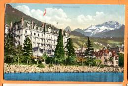 FAC-01  Montreux  Hotel Continental   Cachet 1913 - VD Vaud