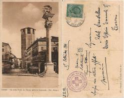 CARTOLINA ILL UDINE POSTA MILITARE 1916 OSPEDALE GUERRA 60 CROCE ROSSA X TORINO - 1900-44 Vittorio Emanuele III