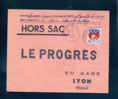 Hors Sac Le Progrès Lyon Marcilly Les Buxy Saône Et Loire 1965 1354B Armoiries De Paris Seul Tarif 30c - Marcophilie (Lettres)