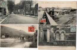 MILLAU - 4 CPA - Pont Le Rouge - Le Moulin - Fenetre Romane - Sous Préfecture Et Bd De La République  (85475) - Millau
