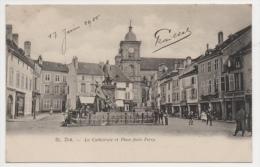 88 VOSGES - SAINT DIE La Cathédrale Et Place Jules Ferry - Saint Die