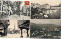 MILLAU -4 CPA- Les Colonnades De N.D. - Bd De Layrolles - Le Vieux Moulin - Jonction Dourbie Et Tarn (85482) - Millau