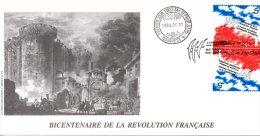HONGRIE. N°3214 De 1989 Sur Enveloppe 1er Jour. Folon/Révolution Française. - French Revolution