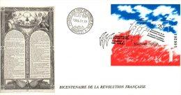 HONGRIE. BF 504 De 1989 Sur Enveloppe 1er Jour. Folon/Révolution Française. - French Revolution