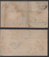 HAGENAU IM ELSASS - HAGUENAU  /  1879 HUFEISENSTEMPEL AUF FALTBRIEF (ref 6082) - Lettres & Documents