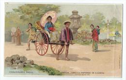 Japon - Dame à La Promenade En Djiurieka - Japón