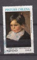 Chili 1991 Mi Nr 1464 Schilderij Kinderhoofd Van Benito Rebolledo Correa - Chili