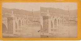 Vieille Photo Stereoscopique Allemagne Vieux Pont De Heidelberg Vers 1870 - Stereoscopic