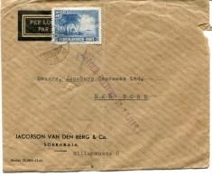 SOERABIA Env. De 1946 Pour NEW YORK Adresse Incomplète Retour - Netherlands Indies