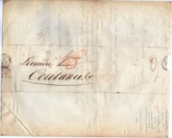 TB 967 - LAC - Lettre En PP De Mr TREMBLAY Editeur D´Almanachs En PP De PARIS OB Bureau Central Pour COUTANCES - Marcophilie (Lettres)