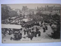 22 - CPA  - GUINGAMP - Jour De Marché - Belle Carte ANIMEE - Guingamp