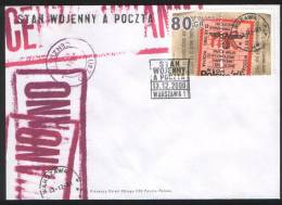 Poland Pologne, Polish Underground Post During Martial Law In The 1981. 2000 FDC. - Post