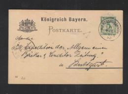 Bayern GSK 1892 Würzburg-Sanderau Nach Stuttgart - Bayern