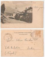SUSA ( TORINO ) PONTE SULLA DORA - EDIZ. A. BARDI - 1901 - Otras Ciudades