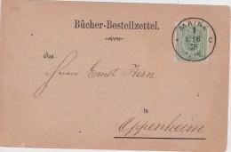 ALLEMAGNE 1875 CARTE DE MAINZ - Briefe U. Dokumente