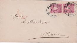 ALLEMAGNE 1879 LETTRE DE HAMBURG - Allemagne