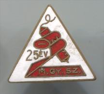 M.GY.SZ. - Hungary, Enamel, Vintage Pin, Badge - Trademarks