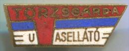 TORZSGARDA UASELLATO - Hungary, Enamel, Vintage Pin, Badge - Trademarks