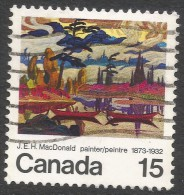 Canada. 1973 Birth Centenary Of JEH MacDonald. 15c Used. SG 756 - 1952-.... Reign Of Elizabeth II