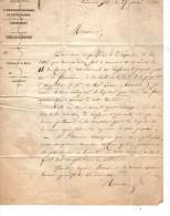 VP3464 - Lettre De L'Administration Des Domaines à LIMOUX  Concernant La Vente De La Propriété D'Aigeuilles - Manuscripts