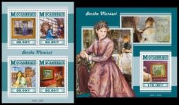 MOZAMBIQUE 2015 - Berthe Morisot. M/S + S/S. Official Issue - Mozambique