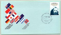 Pli 1er Jour. AAT, Traité Sur L´Antarctique à Canberra. Cachet à Date Du 7/09/1983. Polaire, Antarctique. - FDC