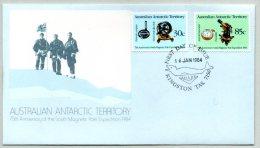 Pli 1er Jour. AAT, 75e Ann. De L'expédition Au Pôle Sud Magnétique. Cachet à Date Du 16/01/1984. Polaire, Antarctique. - FDC