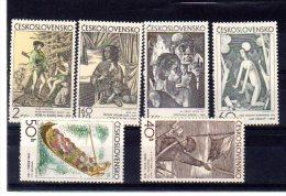 1971 Art Graphique  Y1825 1830 ** - Tschechoslowakei/CSSR