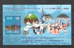 HONG KONG,  HONGKONG, 1997,  Atlanta Paralympic Games, MS, MNH,  (**) - Summer 1996: Atlanta
