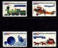 1975 USA Postal Service Bicentennial Stamps Sc#1572-75 Space Satellite Plane Train Stagecoach Horse Trailer Truck Post - Espace