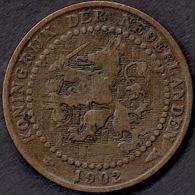 Netherlands 1 Cent 1902 (mint Mark Far Away) - [ 3] 1815-… : Koninkrijk Der Nederlanden