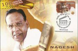 Maxim Card, India 2013,Nagesh,100 Years Of Indian Cinema,Cinematic, Comedian - Cinema