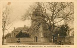 Dép 36 - Photographe - Saint Gaultier - Chasseneuil En Berry Par Saint Marcel - L´église - Publicité Au Dos Photo Rameau - France