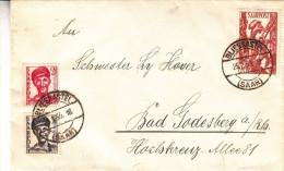 Sarre - Lettre De 1950 - Oblitération Blieskastel - - Lettres & Documents