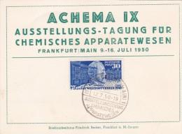 Carte ACHEMA IX  DEUTSCHE POST - Autres
