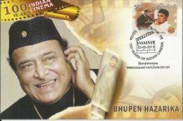 Maxim Card, India 2013,Bhupen Hazarika,100 Years Of Indian Cinema,Indian Lyricist, Musician, Singer, Poet & Film-maker