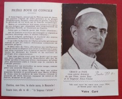 -- PETIT CALENDRIER DE 1964 GRACE ET PAIX DE PAUL  VI -- - Petit Format : 1961-70