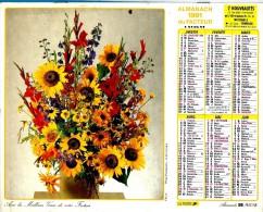 ALMANACH DES P.T.T 1991 (57)   -  Complet 2 VUES ** FLEURS EN VASES  ** Calendrier * LAVIGNE * - Calendriers