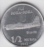 BORA-BORA (FRENCH PACIFIC) ½ Poe Rava 2015 Plane Ryan FR1, Unusual Alu Ø20mm - Monete