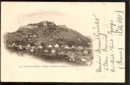 21. Malain. Village Et Chateau De Malain - France