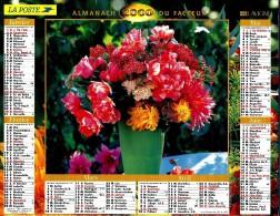 ALMANACH DES P.T.T 2000 (57)   -  Complet 2 VUES ** FLEURS EN VASES De Pépinières DELBARD (03) ** Calendrier * LAVIGNE * - Calendriers