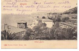 - ITALIE - CPA Ayant Voyagé ONEGLIA 1905 - Villini Berta - Ed. Garzini E Pezzini 11065 - - Imperia