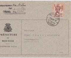 SUISSE 1949 LETTRE DE MOUTIER - Switzerland