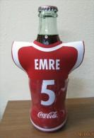 AC - COCA COLA  EMPTY BOTTLE & CROWN CAP TURKISH FOOTBALL NATIONAL TEAM NAMES SOCCER - 5 - EMRE - Bottles