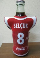 AC - COCA COLA  EMPTY BOTTLE & CROWN CAP TURKISH FOOTBALL NATIONAL TEAM NAMES SOCCER - 8 - SELCUK - Bottles