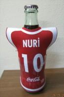 AC - COCA COLA  EMPTY BOTTLE & CROWN CAP TURKISH FOOTBALL NATIONAL TEAM NAMES SOCCER - 10 - NURI - Bottles