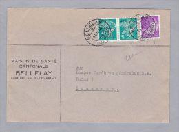 Schweiz Portofreiheit 1945-02-24 Bellelay Brief Mit Zu#14ayx2+15ay Glat Kreide - Franchise