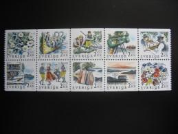 1988. Rabatt. Michel 1482#1491 Block Of 10 Stamps **/MNH (zweden2/28) - Ongebruikt