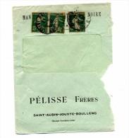 Lettre Cachet Saint Aubin  Entete Pelisse - Marcophilie (Lettres)